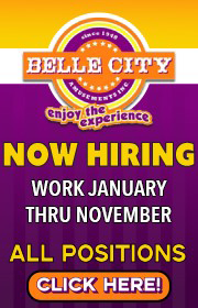 Belle City is NOW HIRING FOR 2021!  Work January through November.  Hiring in ALL Departments - Chance Giant Wheel Foreman wanted!  Call Charles 407-399-1831