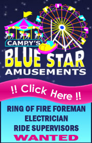 Campy's Amusements is Now Hiring for 2020 - Ring of Fire Foreman, Electrician, Ride Supers