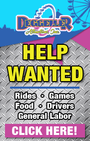 Deggeller Attractions is now hiring ride, game, food, cdl drivers, and more.  Visit www.deggeller.com to apply.