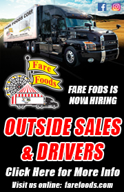 Fare Foods is seeking drivers & outside sales reps!  Email your resume to sharsy@farefoods.com!