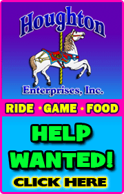 HOUGHTON CARNIVAL -  Ride, game, food help wanted.  SHORT HOURS, GOOD PAY!  Email houghtoncarnival@aol.com or visit www.houghtoncarnival.com