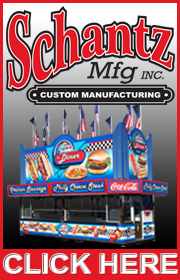 Schantz Manufacturing has over 60 years of manufacturing award winning custom concession trailers.  Visit our web site at www.schantzmfg.com or call 618-654-1523.