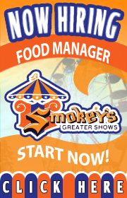 Smokeys Greater Shows is now booking non conflicting rides, games, and food for the upcoming 2019 season.  We are also hiring ride help, electricians, welders, and more.  CDL drivers are a plus!