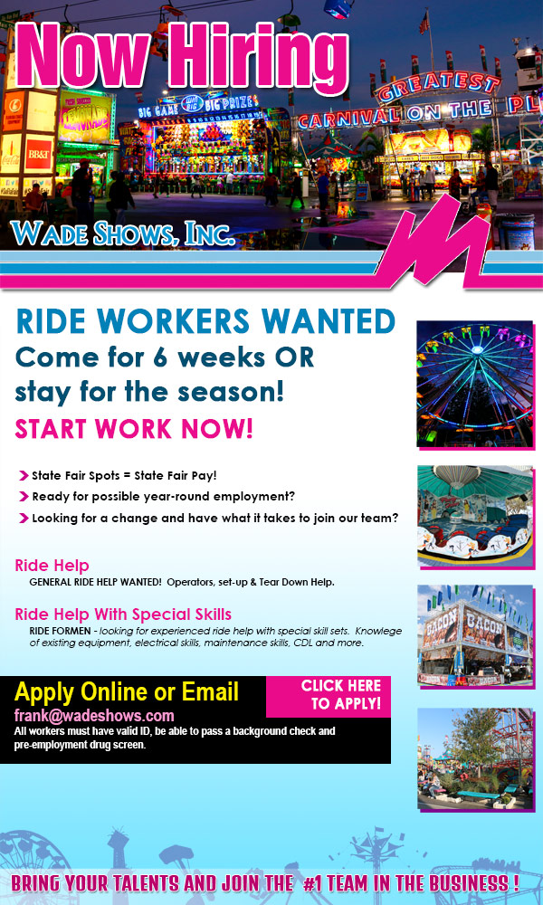 Wade Shows is now hiring